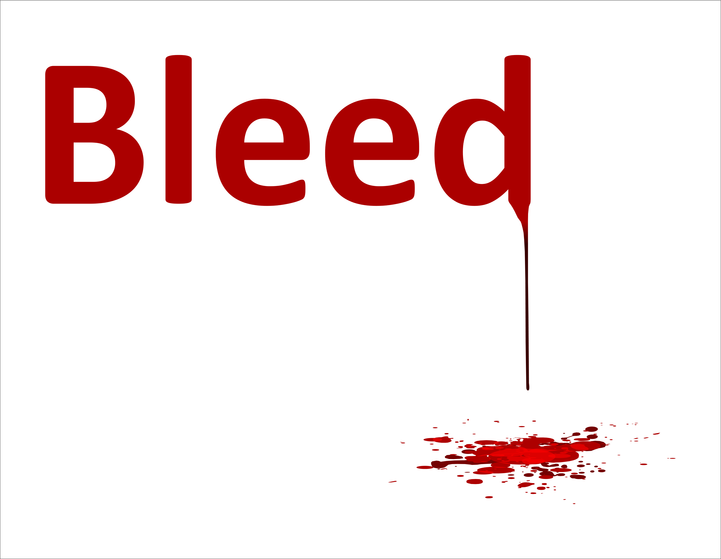 how to add bleed in word