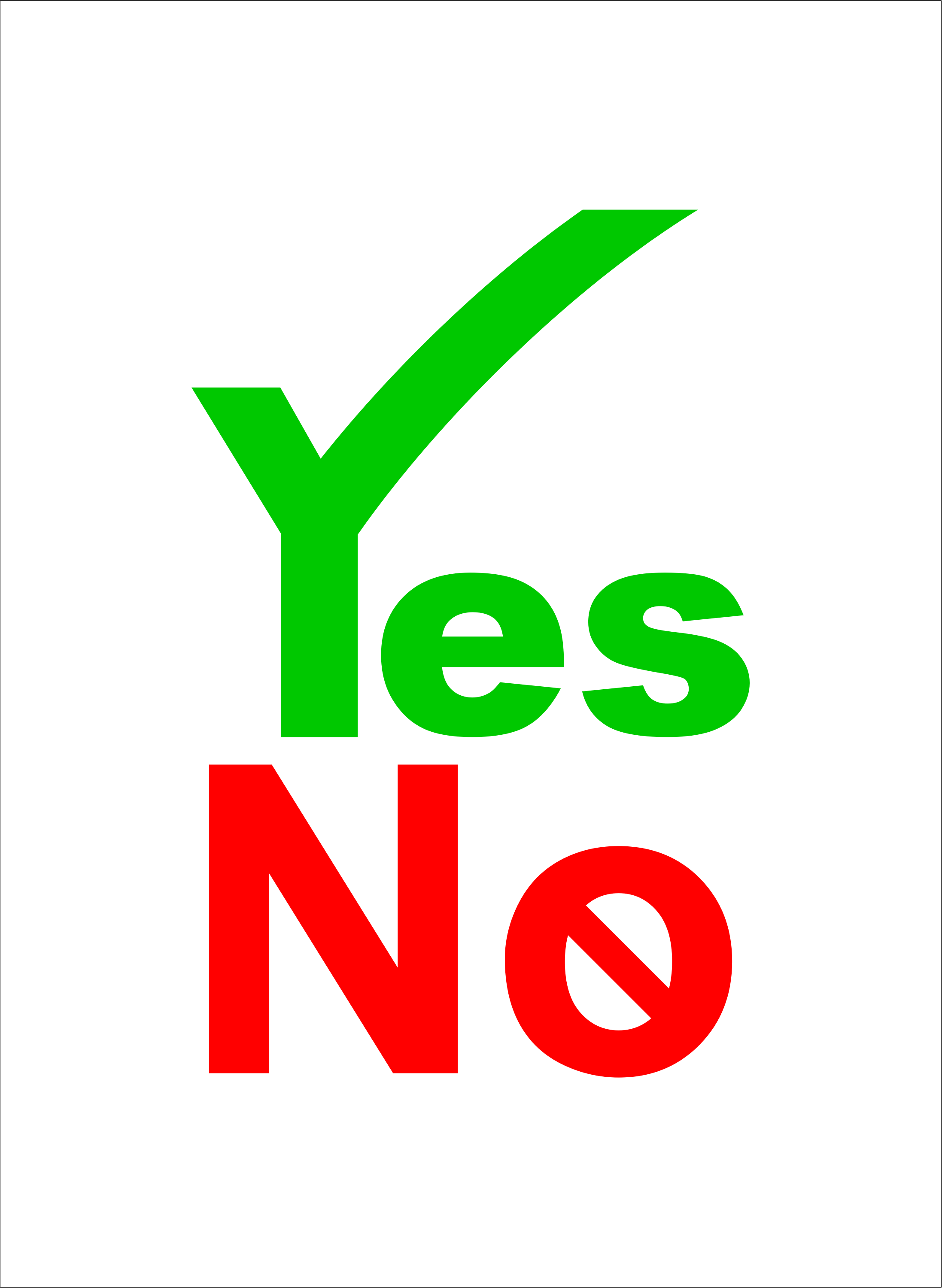 ''Yes No'' Word Art By Assassicactus On DeviantArt