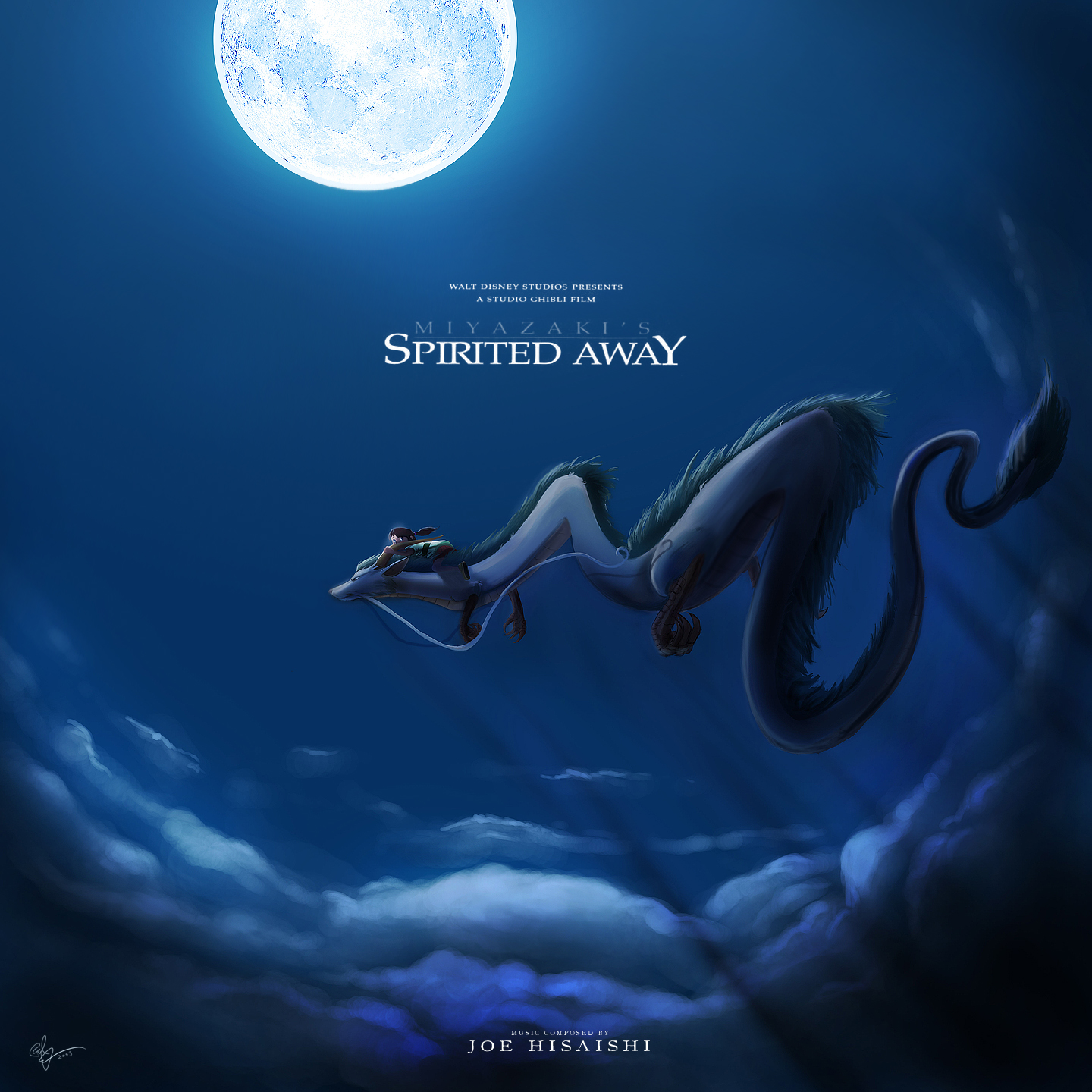 Spirited Away Custom CD Cover by lord-phillock