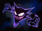 Red and Blue Haunter