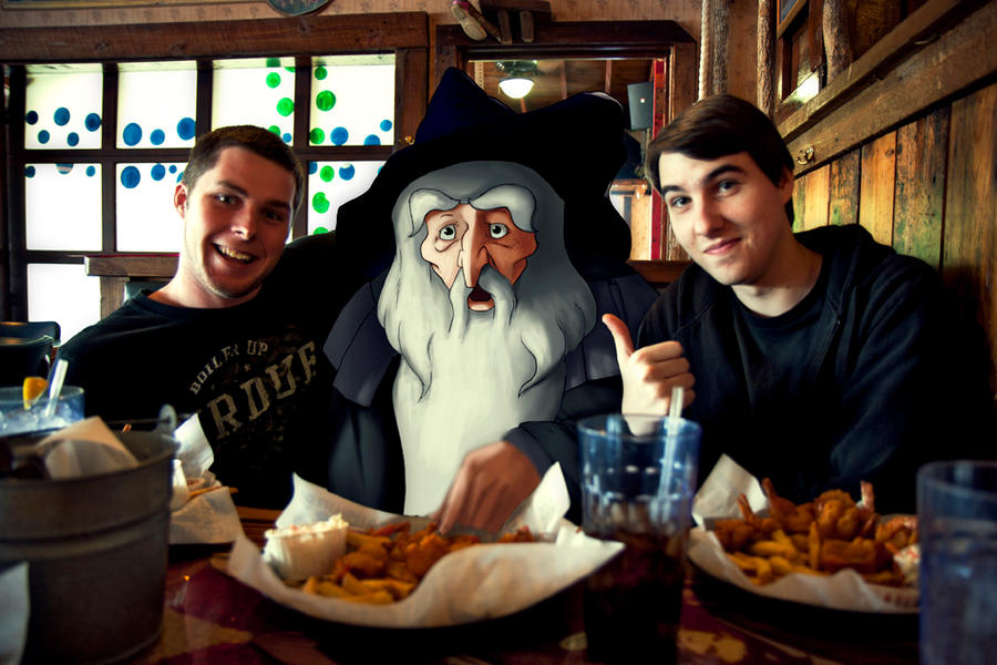 Gandalf with us at Joe's by lord-phillock