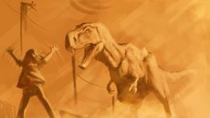 Albertosaurus Attack by lord-phillock