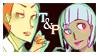 todd and petunia - stamp