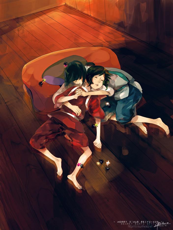 SS - Haku and Chihiro for Reiyu-kun by Kiwishu