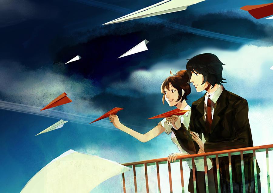 Red summer planes by Kiwishu