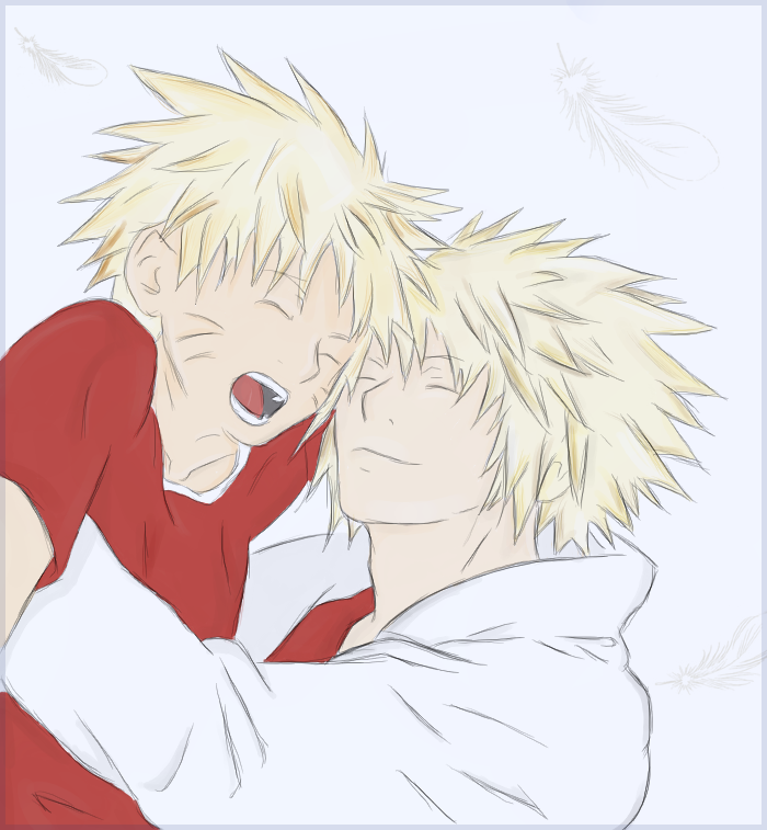Naruto and Yondaime, Coloured by Nephij