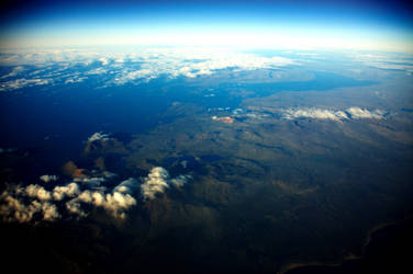 Iceland from plane 01 by ochristi
