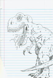 Dino Sketch on Notepad