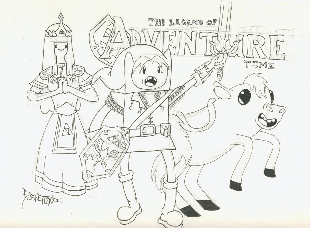 The Legend of Bubblegum + The Adventure of Finn by weezel365