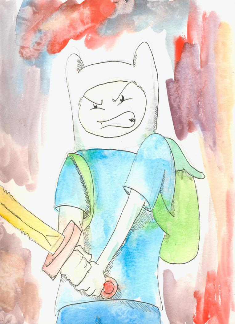 Finn in Watercolor by weezel365