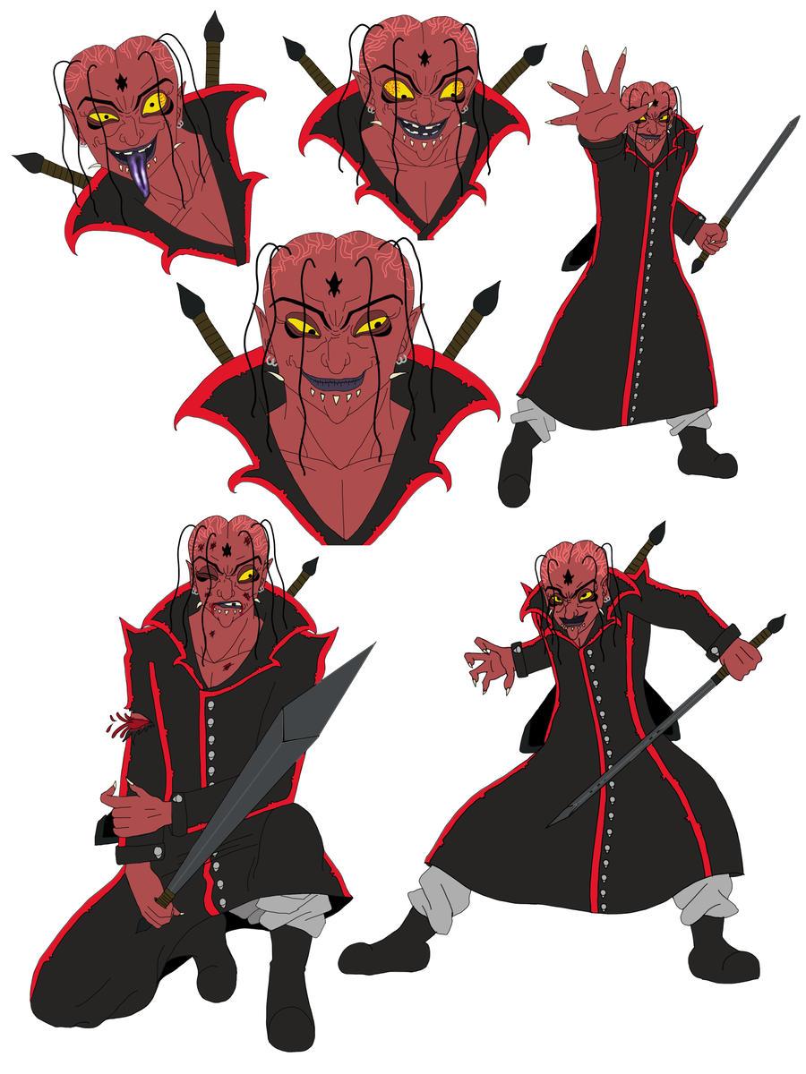 Character Design Villain : Grido villain character poses by ilovetrunks on deviantart