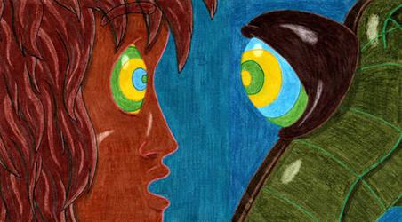 Mowgli and Kaa's Encounter's close up