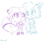 Point Commission-Chibi Gizelle and Ore