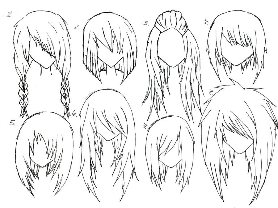 Female anime hair by alicewolfnas