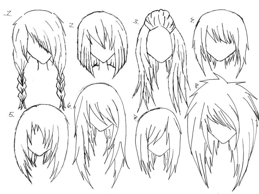 Female Anime Hair by alicewolfnas