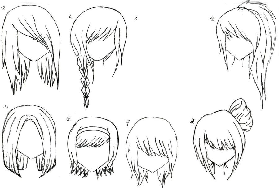 Anime Long Black Hair Cool Hairstyles