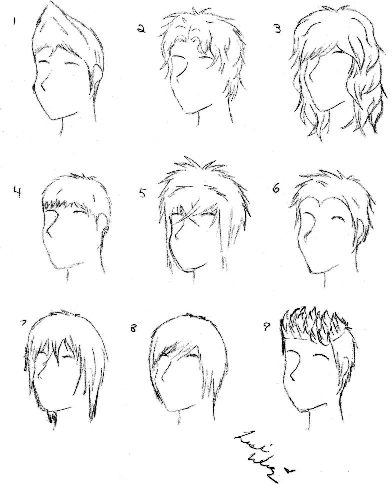Anime American Male Hairstyles Sketching Hair Is Our Crown
