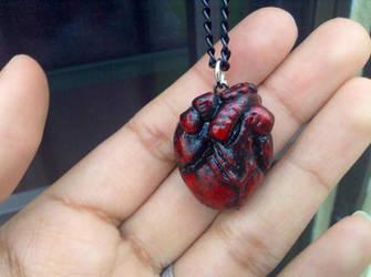 Anatomical heart necklace by Saloscraftshop