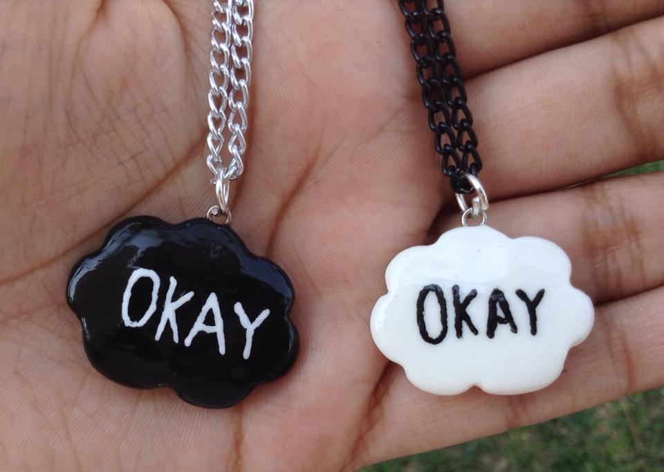 The fault in our star couple/bff necklaces by Saloscraftshop