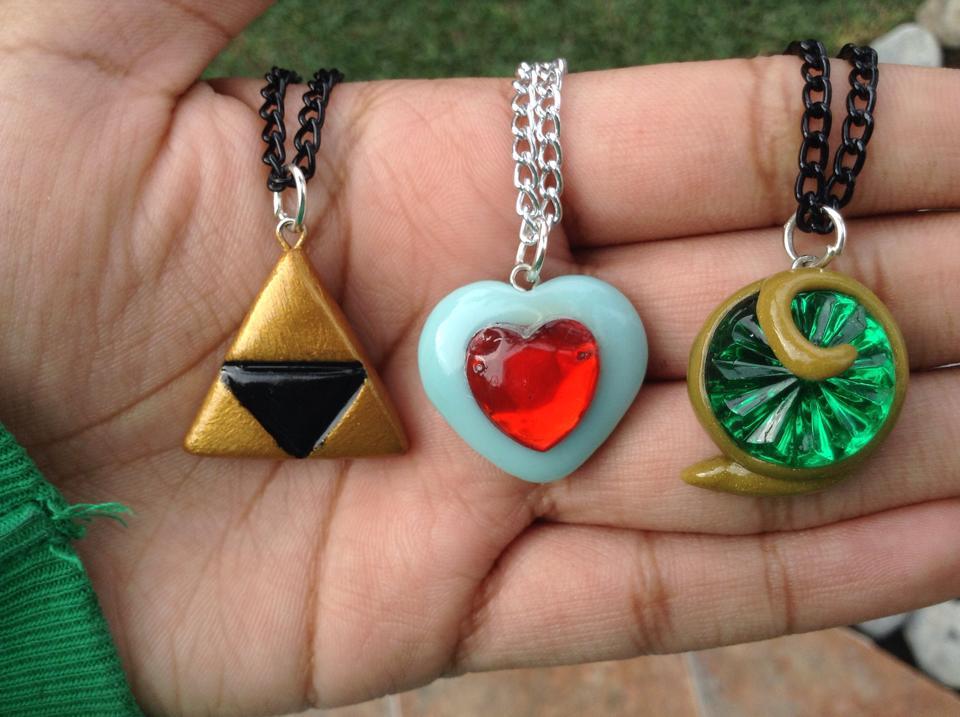 Legend of Zelda necklace collection by Saloscraftshop