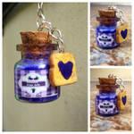 Jelly and toast keychain charm