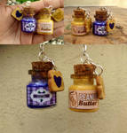 Peanut butter and jelly bff keychains