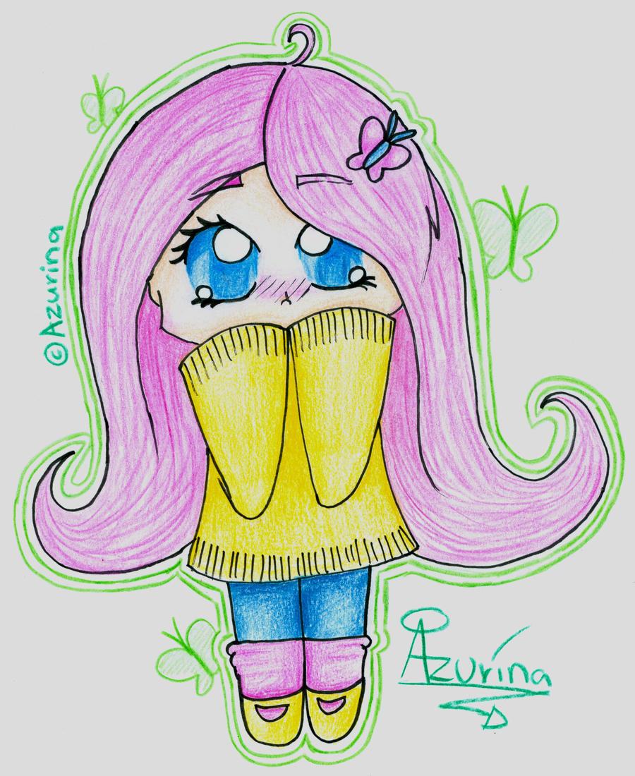 Chibi Human Fluttershy by Azurina on DeviantArt