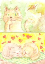 kitty cat postcards by goobiedoll