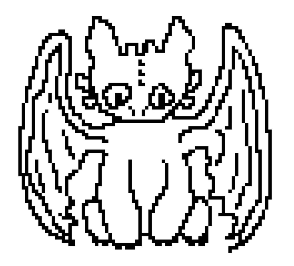 Toothless Pixel Art By Animallover34as ...