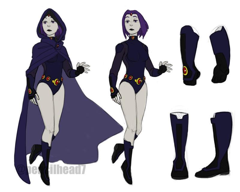 Raven Redesign by pencilHead7 ...  sc 1 st  DeviantArt & Raven Redesign by pencilHead7 on DeviantArt
