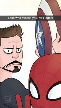 Spider-man Snapchat