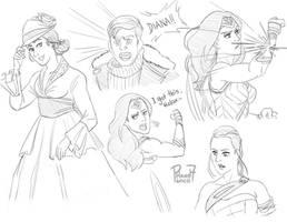 Wonder Woman sketch by pencilHead7