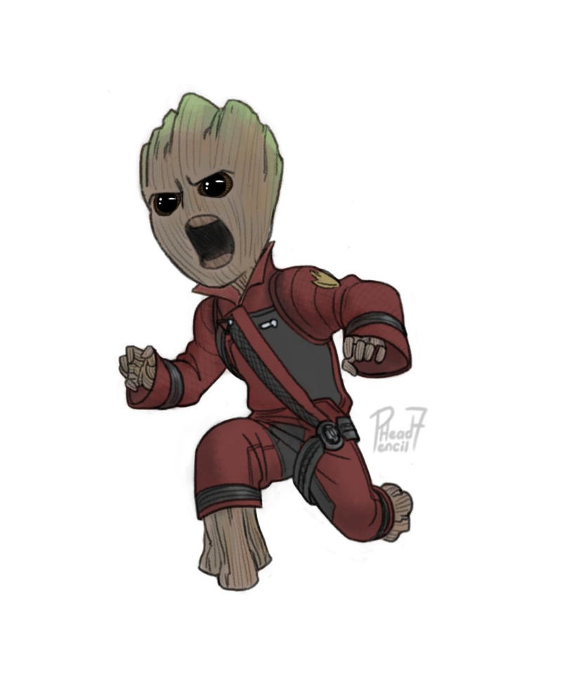 Baby Groot! by pencilHead7 on DeviantArt