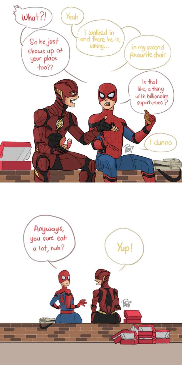 Spidey and Flash by pencilHead7