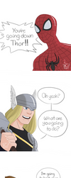 Thor vs Spidey by pencilHead7