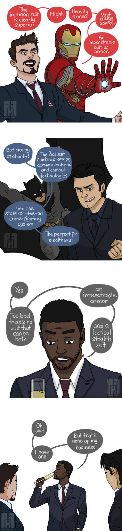Stark vs Wayne 2 by pencilHead7