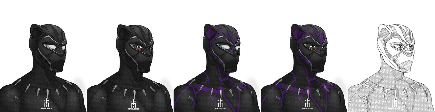 Black Panther New Suit by pencilHead7