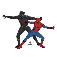 Spidey and BP by pencilHead7