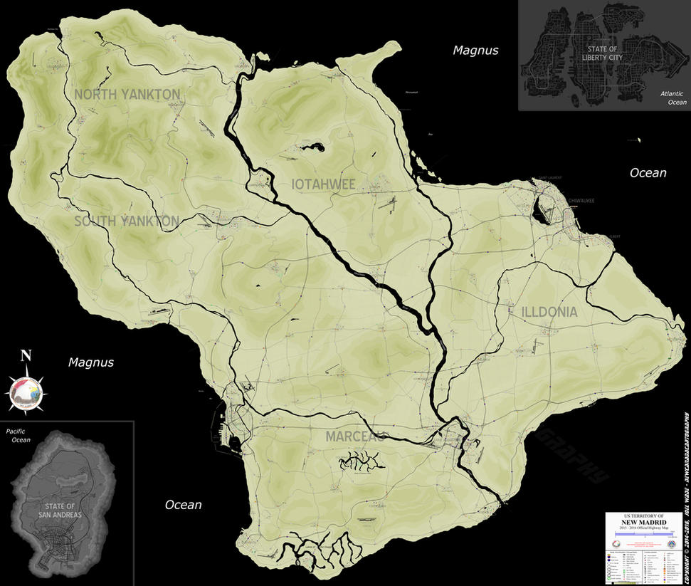 Grand Theft Auto New Madrid Map by NewCanadaCartography on DeviantArt