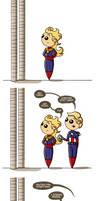 Carol vs Stilt Man by flatbear
