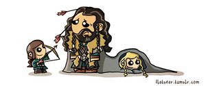 Dwarf-sitting. by flatbear