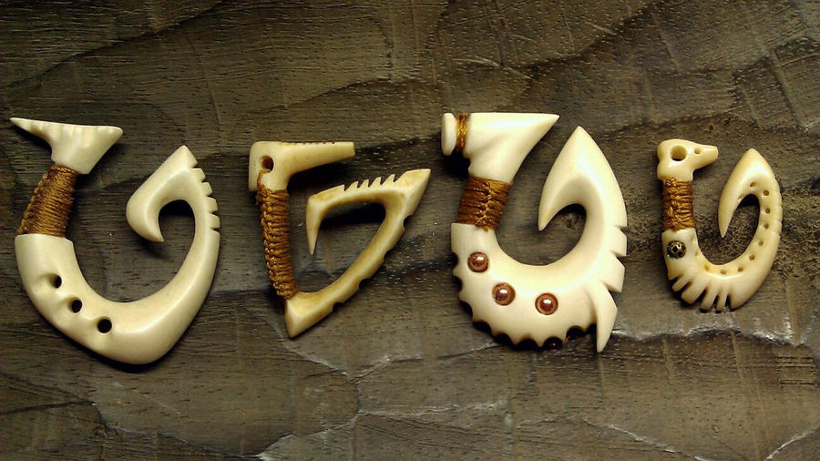 Some Bone Hooks by soupcan13