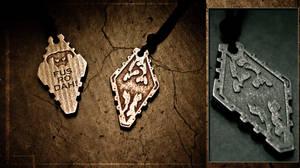 Skyrim Pendant - Stainless Steel
