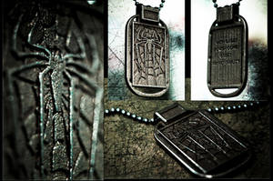 Off the Wall - Spiderman Pendant by soupcan13