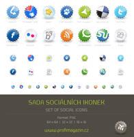 Set of social icons by Tydlinka