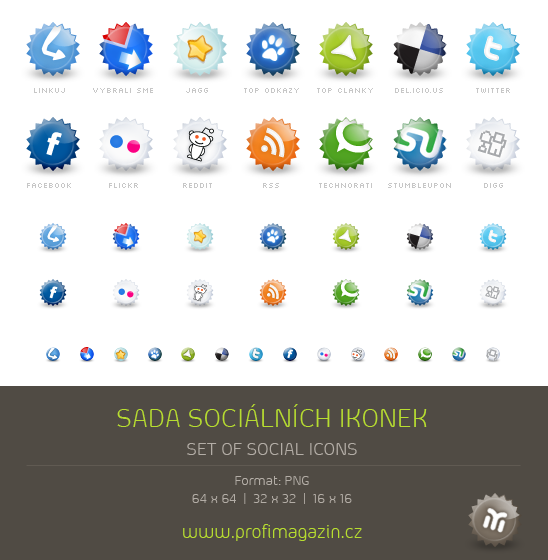 Set of social icons