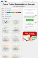 Twitter Bootstrap Button Generator with FamFamFam by Tydlinka