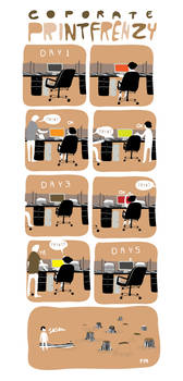 a commentary on office wastage