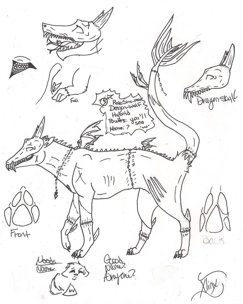 Hybrid-Wolf/Dragon (needs name = =) by XlinxWolf on DeviantArt