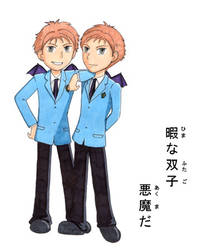 Ouran High - Evil Twins by elphin-art